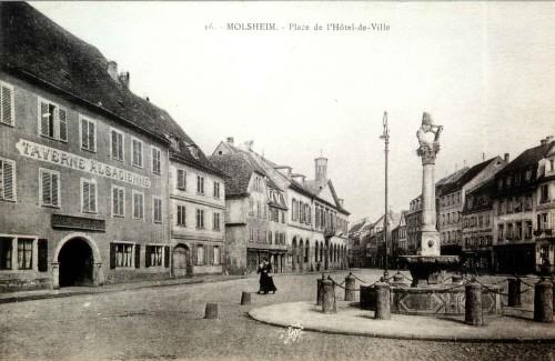 Rue De Strasbourg Et Place De L H 244 Tel De Ville 224 Molsheim