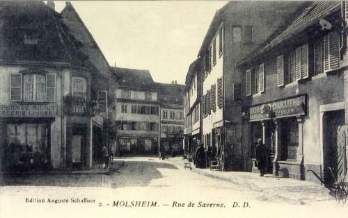 U003cpu003eCette Carte Des Années 1930 Présente La Partie Inférieure De La Rue De  Saverne : La Mercerie Lingerie Du0027Alphonse Sigrist Fait Face à La ...